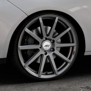 AEZ Straight Graphite matt Felge mit Reifen grau in 19Zoll Winterfelge Alufelge auf silbernem Opel Adam ⬇️ mit 15mm Tieferlegung ⬇️ Industriehalle 1 Thumbnail