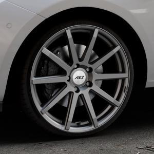 AEZ Straight Graphite matt Felge mit Reifen grau in 19Zoll Winterfelge Alufelge auf silbernem Opel Corsa E Typ S-D ⬇️ mit 15mm Tieferlegung ⬇️ Industriehalle 1 Thumbnail
