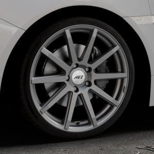 AEZ Straight Graphite matt Felge mit Reifen grau in 19Zoll Winterfelge Alufelge auf silbernem Subaru WRX Typ V1 2,5l STI AWD 221kW (300 PS) ⬇️ mit 15mm Tieferlegung ⬇️ Industriehalle 1 Thumbnail