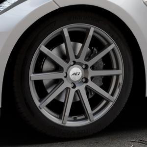 AEZ Straight Graphite matt Felge mit Reifen grau in 19Zoll Winterfelge Alufelge auf silbernem Tesla Model S Typ 002 ⬇️ mit 15mm Tieferlegung ⬇️ Industriehalle 1 Thumbnail