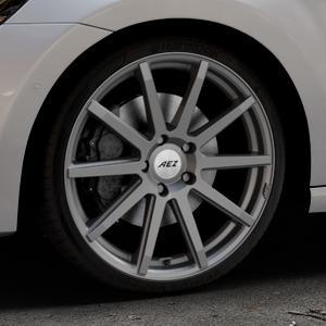 AEZ Straight Graphite matt Felge mit Reifen grau in 19Zoll Winterfelge Alufelge auf silbernem Volkswagen (VW) Golf 7 Sportsvan ⬇️ mit 15mm Tieferlegung ⬇️ Industriehalle 1 Thumbnail