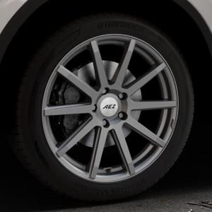 AEZ Straight Graphite matt Felge mit Reifen grau in 19Zoll Winterfelge Alufelge auf silbernem Volkswagen (VW) Tiguan II Typ 5N Allspace ⬇️ mit 15mm Tieferlegung ⬇️ Industriehalle 1 Thumbnail
