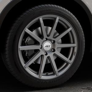 AEZ Straight Graphite matt Felge mit Reifen grau in 19Zoll Winterfelge Alufelge auf silbernem Volvo XC40 Typ X ⬇️ mit 15mm Tieferlegung ⬇️ Industriehalle 1 Thumbnail