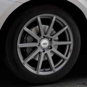 AEZ Straight Graphite matt Felge mit Reifen grau in 19Zoll Winterfelge Alufelge auf silbernem Volvo XC60 Typ D Facelift ⬇️ mit 15mm Tieferlegung ⬇️ Industriehalle 1 Thumbnail