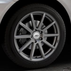AEZ Straight Graphite matt Felge mit Reifen grau in 19Zoll Winterfelge Alufelge auf silbernem Volvo XC60 Typ D ⬇️ mit 15mm Tieferlegung ⬇️ Industriehalle 1 Thumbnail