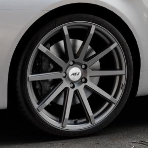AEZ Straight Graphite matt Felge mit Reifen grau in 20Zoll Winterfelge Alufelge auf silbernem Alfa Romeo 159 Sportwagon ⬇️ mit 15mm Tieferlegung ⬇️ Industriehalle 1 Thumbnail