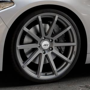AEZ Straight Graphite matt Felge mit Reifen grau in 20Zoll Winterfelge Alufelge auf silbernem Alfa Romeo Giulia Typ 952 ⬇️ mit 15mm Tieferlegung ⬇️ Industriehalle 1 Thumbnail