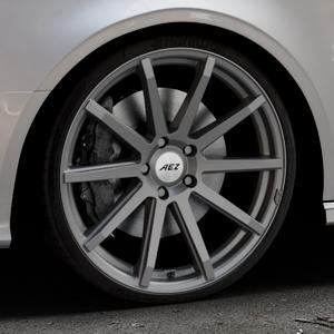 AEZ Straight Graphite matt Felge mit Reifen grau in 20Zoll Winterfelge Alufelge auf silbernem Audi A3 Typ 8V (Cabriolet) ⬇️ mit 15mm Tieferlegung ⬇️ Industriehalle 1 Thumbnail