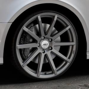 AEZ Straight Graphite matt Felge mit Reifen grau in 20Zoll Winterfelge Alufelge auf silbernem Audi A3 Typ 8V (Limousine) Facelift ⬇️ mit 15mm Tieferlegung ⬇️ Industriehalle 1 Thumbnail