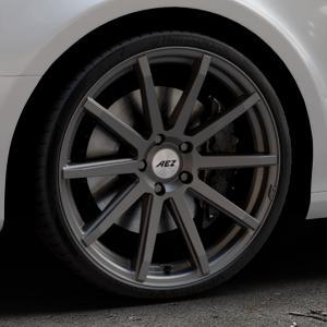 AEZ Straight Graphite matt Felge mit Reifen grau in 20Zoll Winterfelge Alufelge auf silbernem Audi A4 Typ 8K2/B8 (Limousine) ⬇️ mit 15mm Tieferlegung ⬇️ Industriehalle 1 Thumbnail