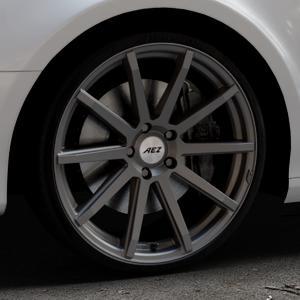 AEZ Straight Graphite matt Felge mit Reifen grau in 20Zoll Winterfelge Alufelge auf silbernem Audi A4 Typ 8K5/B8 (Avant) ⬇️ mit 15mm Tieferlegung ⬇️ Industriehalle 1 Thumbnail