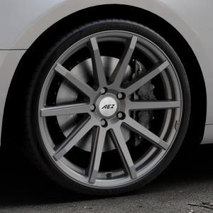AEZ Straight Graphite matt Felge mit Reifen grau in 20Zoll Winterfelge Alufelge auf silbernem Audi A5 Typ B9 (Coupé) (Cabriolet) ⬇️ mit 15mm Tieferlegung ⬇️ Industriehalle 1 Thumbnail