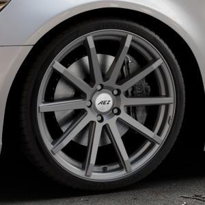 AEZ Straight Graphite matt Felge mit Reifen grau in 20Zoll Winterfelge Alufelge auf silbernem Audi A6 Typ 4G/C7 (Limousine) ⬇️ mit 15mm Tieferlegung ⬇️ Industriehalle 1 Thumbnail