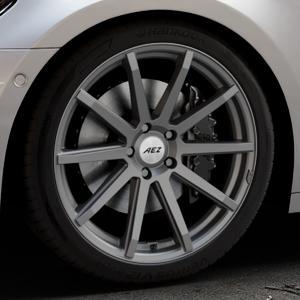AEZ Straight Graphite matt Felge mit Reifen grau in 20Zoll Winterfelge Alufelge auf silbernem Audi A7 Typ F2/C8 (Sportback) ⬇️ mit 15mm Tieferlegung ⬇️ Industriehalle 1 Thumbnail