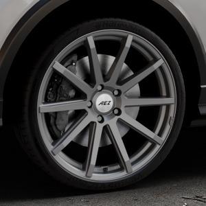 AEZ Straight Graphite matt Felge mit Reifen grau in 20Zoll Winterfelge Alufelge auf silbernem Audi Q2 Typ GA ⬇️ mit 15mm Tieferlegung ⬇️ Industriehalle 1 Thumbnail