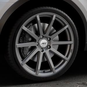 AEZ Straight Graphite matt Felge mit Reifen grau in 20Zoll Winterfelge Alufelge auf silbernem Audi Q3 I Typ 8U Facelift ⬇️ mit 15mm Tieferlegung ⬇️ Industriehalle 1 Thumbnail