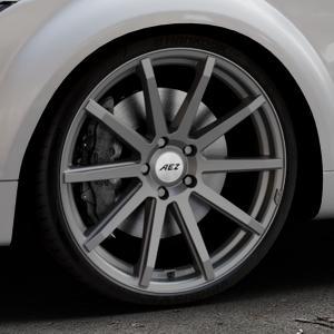 AEZ Straight Graphite matt Felge mit Reifen grau in 20Zoll Winterfelge Alufelge auf silbernem Audi TT II Typ 8J (Roadster) ⬇️ mit 15mm Tieferlegung ⬇️ Industriehalle 1 Thumbnail