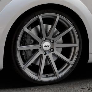 AEZ Straight Graphite matt Felge mit Reifen grau in 20Zoll Winterfelge Alufelge auf silbernem Audi TT III Typ 8S (Coupé) (Roadster) ⬇️ mit 15mm Tieferlegung ⬇️ Industriehalle 1 Thumbnail