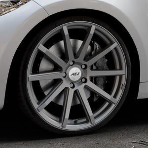 AEZ Straight Graphite matt Felge mit Reifen grau in 20Zoll Winterfelge Alufelge auf silbernem BMW M2 Typ F87 ⬇️ mit 15mm Tieferlegung ⬇️ Industriehalle 1 Thumbnail