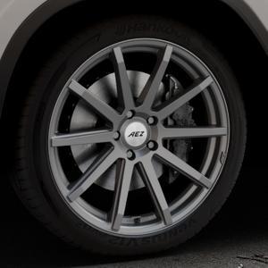 AEZ Straight Graphite matt Felge mit Reifen grau in 20Zoll Winterfelge Alufelge auf silbernem BMW X3 Typ G01 (G3X) ⬇️ mit 15mm Tieferlegung ⬇️ Industriehalle 1 Thumbnail
