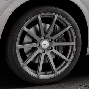 AEZ Straight Graphite matt Felge mit Reifen grau in 20Zoll Winterfelge Alufelge auf silbernem BMW X4 Typ F26 (X3, X-N1) ⬇️ mit 15mm Tieferlegung ⬇️ Industriehalle 1 Thumbnail