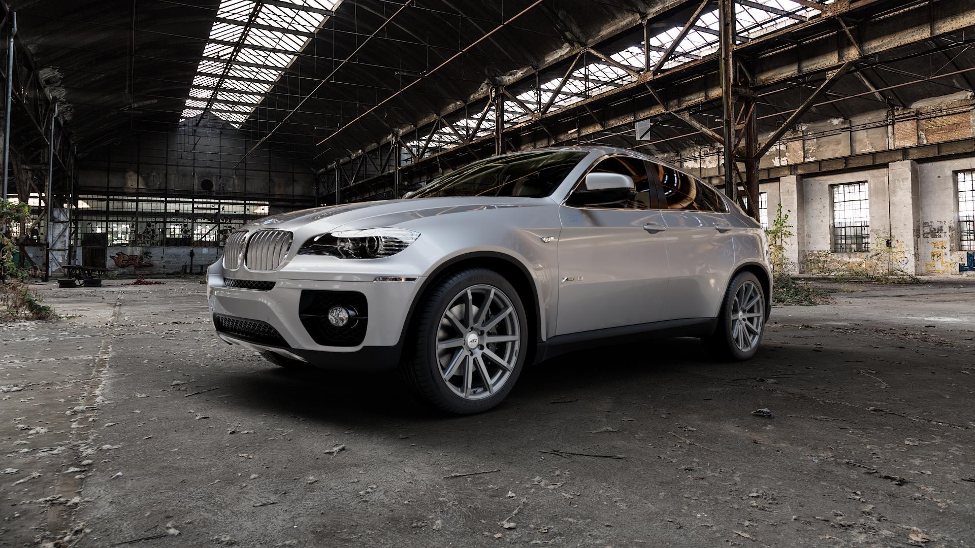 AEZ Straight Graphite matt Felge mit Reifen grau in 20Zoll Winterfelge Alufelge auf silbernem BMW X6 Typ E71 (X70, X6, X-N1, HY) ⬇️ mit 15mm Tieferlegung ⬇️ Industriehalle 1 Camera_000
