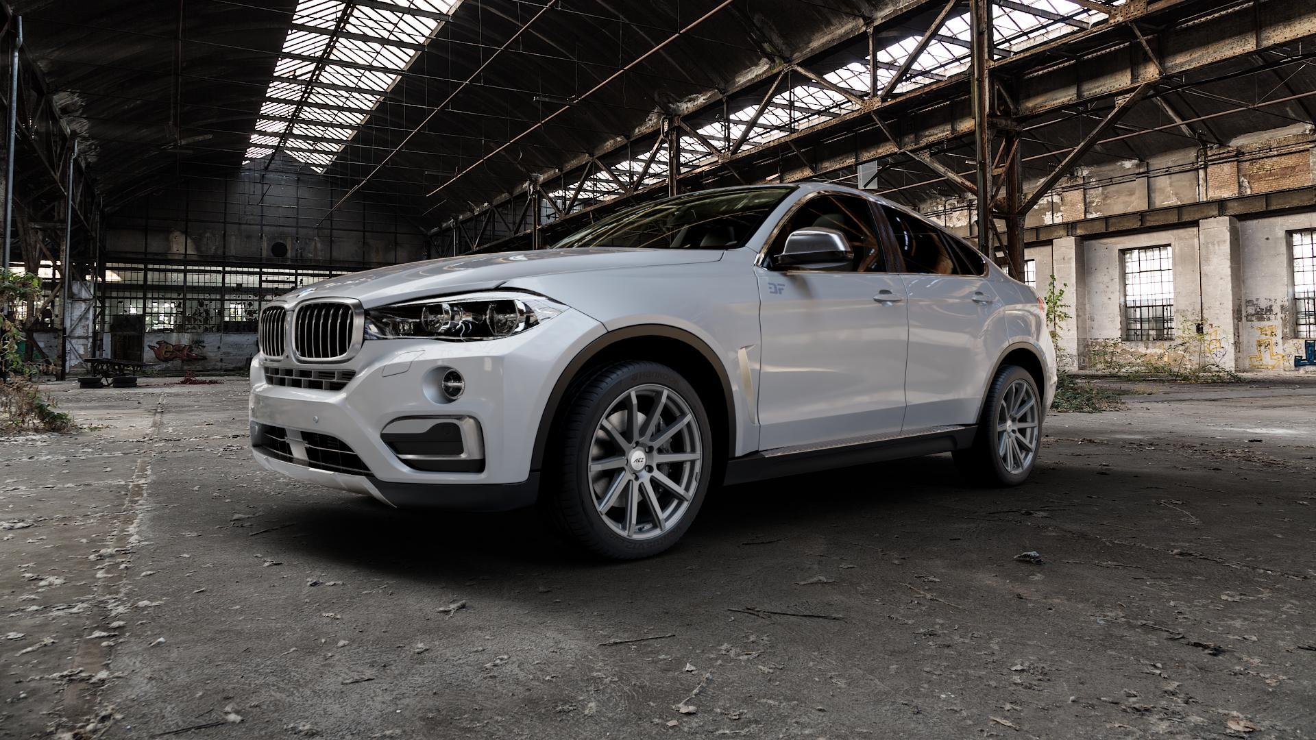 AEZ STRAIGHT GRAPHITE MATT Felge mit Reifen grau in 20Zoll Winterfelge Alufelge auf silbernem BMW X6 Typ F16 (X6, X-N1) ⬇️ mit 15mm Tieferlegung ⬇️ Industriehalle 1 Camera_000