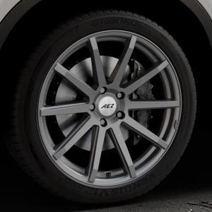 AEZ Straight Graphite matt Felge mit Reifen grau in 20Zoll Winterfelge Alufelge auf silbernem BMW X6 Typ F16 (X6, X-N1) ⬇️ mit 15mm Tieferlegung ⬇️ Industriehalle 1 Thumbnail