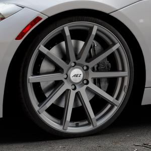 AEZ Straight Graphite matt Felge mit Reifen grau in 20Zoll Winterfelge Alufelge auf silbernem BMW Z4 Roadster Typ E89 (Z89, ZR) ⬇️ mit 15mm Tieferlegung ⬇️ Industriehalle 1 Thumbnail