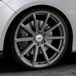 AEZ Straight Graphite matt Felge mit Reifen grau in 20Zoll Winterfelge Alufelge auf silbernem Ford Focus III Typ DYB (Schrägheck) (Stufenheck) Facelift ⬇️ mit 15mm Tieferlegung ⬇️ Industriehalle 1 Thumbnail