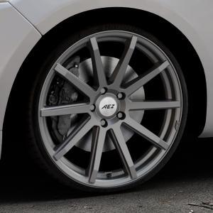AEZ Straight Graphite matt Felge mit Reifen grau in 20Zoll Winterfelge Alufelge auf silbernem Ford Mondeo IV Limousine Typ BA7 Turnier Fließheck ⬇️ mit 15mm Tieferlegung ⬇️ Industriehalle 1 Thumbnail