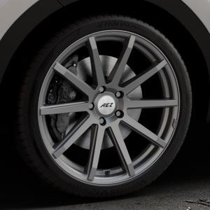 AEZ Straight Graphite matt Felge mit Reifen grau in 20Zoll Winterfelge Alufelge auf silbernem Kia Sportage IV Typ QL QLE ⬇️ mit 15mm Tieferlegung ⬇️ Industriehalle 1 Thumbnail