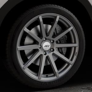 AEZ Straight Graphite matt Felge mit Reifen grau in 20Zoll Winterfelge Alufelge auf silbernem Mazda CX-5 Typ KE ⬇️ mit 15mm Tieferlegung ⬇️ Industriehalle 1 Thumbnail