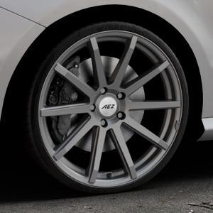AEZ Straight Graphite matt Felge mit Reifen grau in 20Zoll Winterfelge Alufelge auf silbernem Mercedes B-Klasse Typ W246 Facelift ⬇️ mit 15mm Tieferlegung ⬇️ Industriehalle 1 Thumbnail