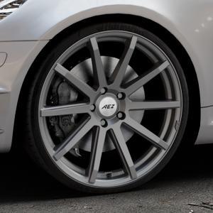 AEZ Straight Graphite matt Felge mit Reifen grau in 20Zoll Winterfelge Alufelge auf silbernem Mercedes SLK Typ R171 ⬇️ mit 15mm Tieferlegung ⬇️ Industriehalle 1 Thumbnail
