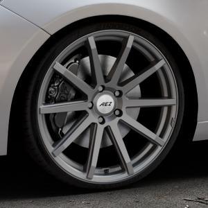 AEZ Straight Graphite matt Felge mit Reifen grau in 20Zoll Winterfelge Alufelge auf silbernem Peugeot 308 II Typ L Facelift ⬇️ mit 15mm Tieferlegung ⬇️ Industriehalle 1 Thumbnail