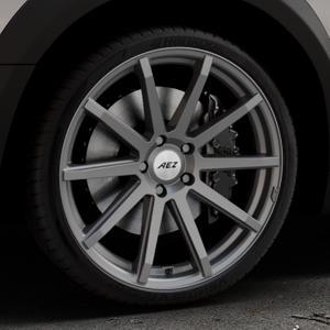 AEZ Straight Graphite matt Felge mit Reifen grau in 20Zoll Winterfelge Alufelge auf silbernem Peugeot 508 Typ 8 RXH Facelift ⬇️ mit 15mm Tieferlegung ⬇️ Industriehalle 1 Thumbnail