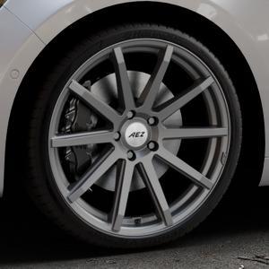 AEZ Straight Graphite matt Felge mit Reifen grau in 20Zoll Winterfelge Alufelge auf silbernem Renault Talisman Typ RFD ⬇️ mit 15mm Tieferlegung ⬇️ Industriehalle 1 Thumbnail