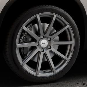 AEZ Straight Graphite matt Felge mit Reifen grau in 20Zoll Winterfelge Alufelge auf silbernem Skoda Kodiaq Typ NS ⬇️ mit 15mm Tieferlegung ⬇️ Industriehalle 1 Thumbnail