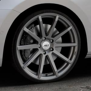 AEZ Straight Graphite matt Felge mit Reifen grau in 20Zoll Winterfelge Alufelge auf silbernem Skoda Superb III Kombi Typ 3V ⬇️ mit 15mm Tieferlegung ⬇️ Industriehalle 1 Thumbnail