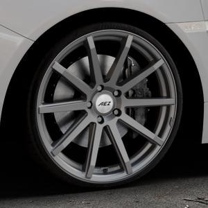 AEZ Straight Graphite matt Felge mit Reifen grau in 20Zoll Winterfelge Alufelge auf silbernem Subaru WRX Typ V1 2,5l STI AWD 221kW (300 PS) ⬇️ mit 15mm Tieferlegung ⬇️ Industriehalle 1 Thumbnail