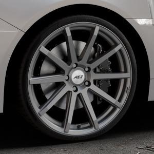 AEZ Straight Graphite matt Felge mit Reifen grau in 20Zoll Winterfelge Alufelge auf silbernem Subaru WRX Typ V1 Model 2018 ⬇️ mit 15mm Tieferlegung ⬇️ Industriehalle 1 Thumbnail