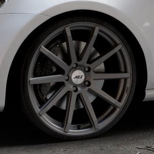 AEZ Straight Graphite matt Felge mit Reifen grau in 20Zoll Winterfelge Alufelge auf silbernem Volkswagen (VW) Golf 7 ⬇️ mit 15mm Tieferlegung ⬇️ Industriehalle 1 Thumbnail