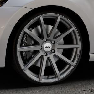 AEZ Straight Graphite matt Felge mit Reifen grau in 20Zoll Winterfelge Alufelge auf silbernem Volkswagen (VW) Golf 7 Sportsvan ⬇️ mit 15mm Tieferlegung ⬇️ Industriehalle 1 Thumbnail