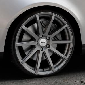 AEZ Straight Graphite matt Felge mit Reifen grau in 20Zoll Winterfelge Alufelge auf silbernem Volkswagen (VW) Passat 3C/B6 Variant ⬇️ mit 15mm Tieferlegung ⬇️ Industriehalle 1 Thumbnail