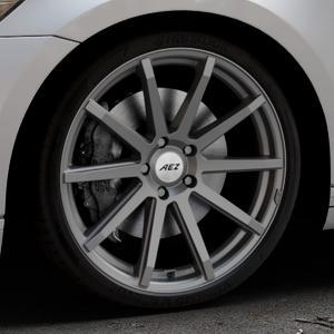 AEZ Straight Graphite matt Felge mit Reifen grau in 20Zoll Winterfelge Alufelge auf silbernem Volkswagen (VW) Passat 3C/B8 Limousine Variant ⬇️ mit 15mm Tieferlegung ⬇️ Industriehalle 1 Thumbnail