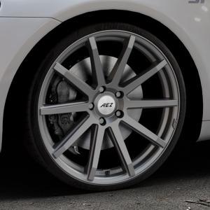 AEZ Straight Graphite matt Felge mit Reifen grau in 20Zoll Winterfelge Alufelge auf silbernem Volkswagen (VW) Scirocco III Typ 13 ⬇️ mit 15mm Tieferlegung ⬇️ Industriehalle 1 Thumbnail
