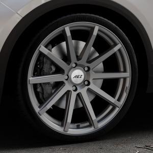 AEZ Straight Graphite matt Felge mit Reifen grau in 20Zoll Winterfelge Alufelge auf silbernem Volkswagen (VW) T-Roc ⬇️ mit 15mm Tieferlegung ⬇️ Industriehalle 1 Thumbnail