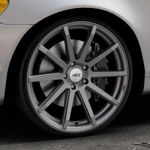 AEZ Straight Graphite matt Felge mit Reifen grau in 20Zoll Winterfelge Alufelge auf silbernem Volvo C70 II Cabriolet Typ M ⬇️ mit 15mm Tieferlegung ⬇️ Industriehalle 1 Thumbnail