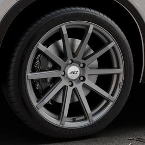 AEZ Straight Graphite matt Felge mit Reifen grau in 20Zoll Winterfelge Alufelge auf silbernem Volvo XC40 Typ X ⬇️ mit 15mm Tieferlegung ⬇️ Industriehalle 1 Thumbnail